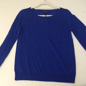 Banana republic blue silk/cashmere sweater